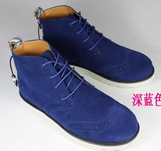 handsome T Lin curved Ethnic Men fashion boots high shoes small yards Korean couple Martin NB07 - good luck for you store