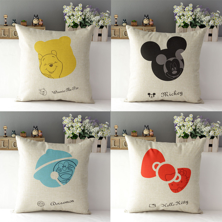 43*43cm Cartoon Cotton Linen Home Throw Pillow Case Cover Home Suppliers(China (Mainland))