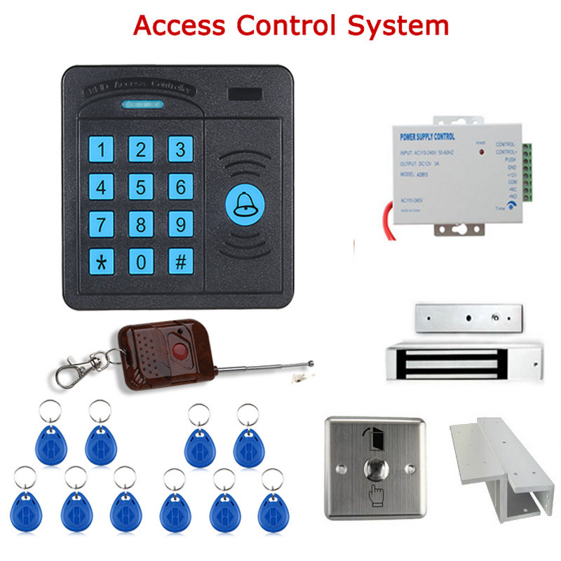Фотография Door Access Control Controller ABS Case RFID Reader Keypad Remote Control 10 ID cards Magnetic Lock