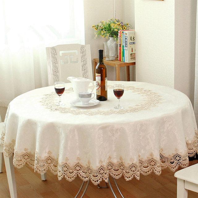 grande vente europenne jardin brod nappe ronde manger couverture de table pour cabinet de mariage - Nappe Ronde Mariage