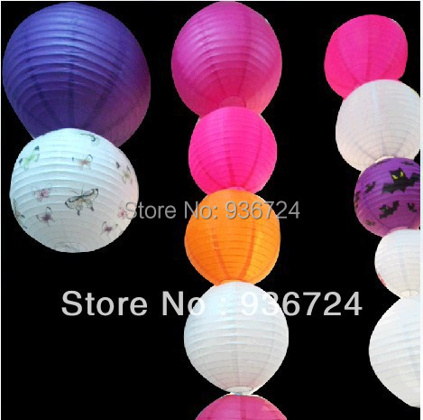 Chinese Lantern For The Spring Festival Free Shipipng 15pcs/lot (8Inch)Paper Lantern Round Hang Chinese Paper Lanterns(China (Mainland))