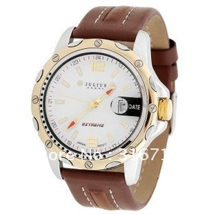 Original top Korea Brand JULIUS Men's Wristwatches,Fashion Luxury Waterproof Sports Leather Strap Watches High Quality JAH-007