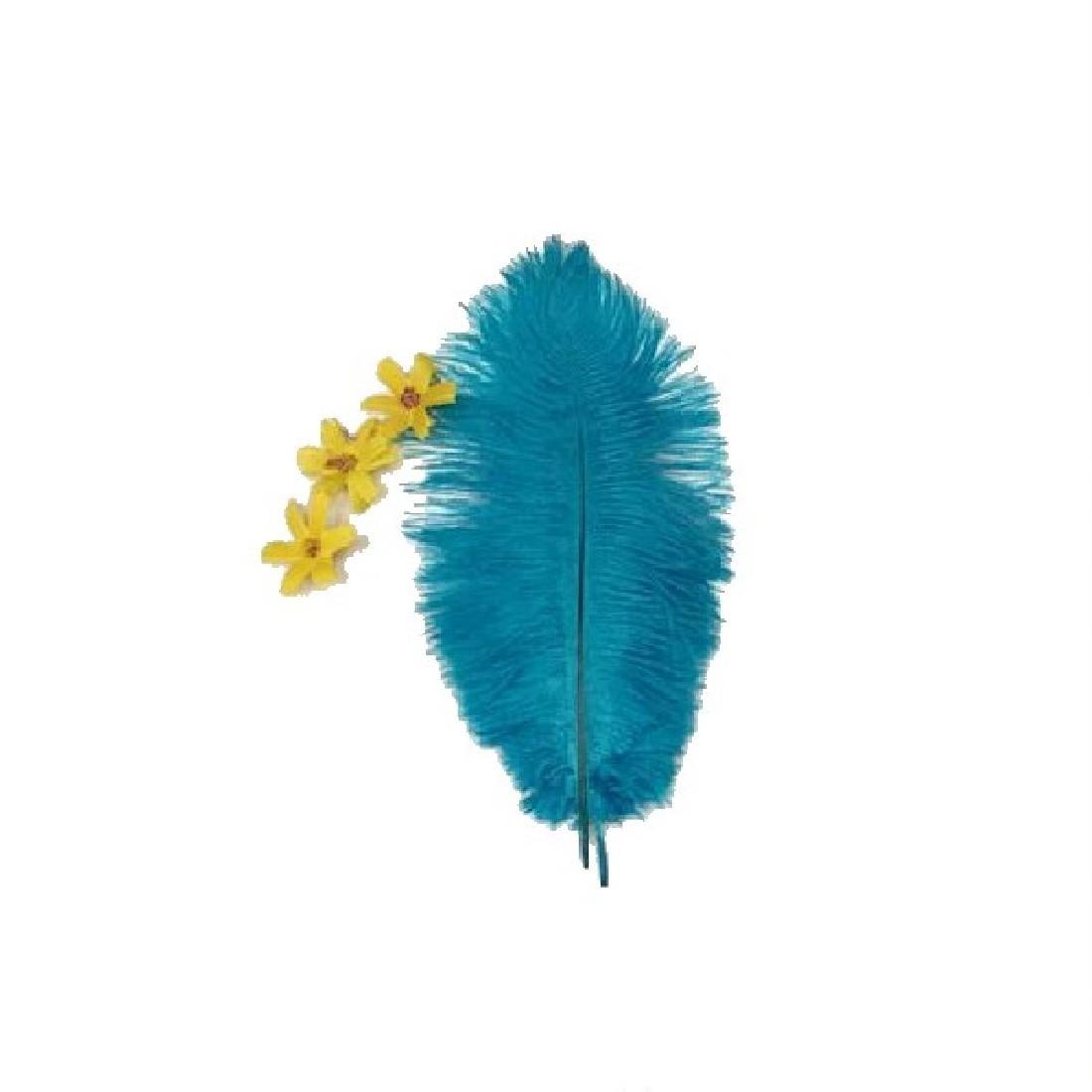 Бесплатная доставка горячая распродажа прибытия 10 шт. голубое озеро страусиных перьев 20 - 25 см свадебные украшения оперение аксессуары ремесла красивая