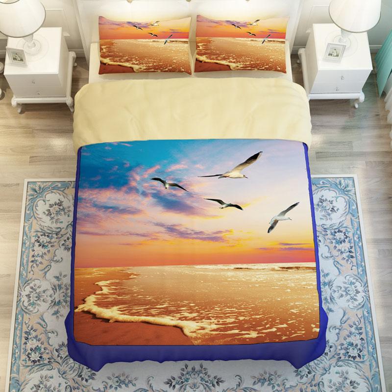 coucher du soleil couette promotion achetez des coucher du soleil couette promotionnels sur. Black Bedroom Furniture Sets. Home Design Ideas