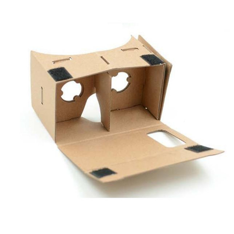 High quality DIY Google Cardboard Virtual Reality VR Mobile Phone 3D Viewing for 4-6 Inches Screen Free Shipping XFPA27(China (Mainland))