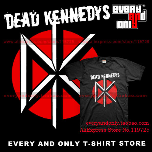Dead Kennedys Hardcore Punk Band Distressed Logo Casual T-shirt Tee T(China (Mainland))
