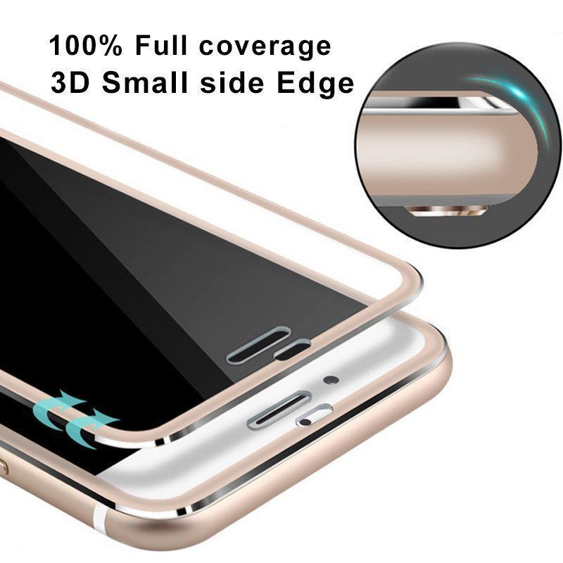For 6S Aluminium alloy Full Cover Frame font b Screen b font Coverage Tempered Glass font