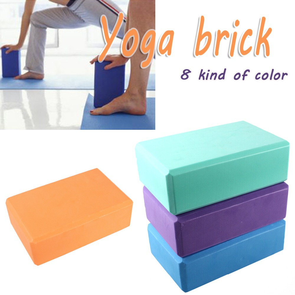 1pcs Square Yoga Blocks Foam Brick Home Exercise Practice Fitness Gym Sport Equipment(China (Mainland))