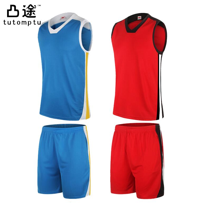 2016 Men Quick Dry Basketball Set Breathable Polyester Basketball Jersey Shorts Sleeveless Training Cloth custom logo accepted(China (Mainland))