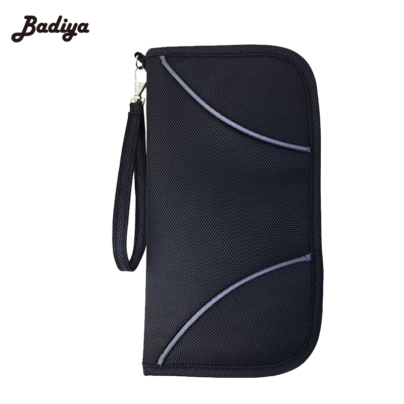 2016 Portable Full Closure Zipper Travel <font><b>Organiser</b></font> Passport Holder <font><b>Wallet</b></font> Large Capacity Document Bag Travel Passport <font><b>Wallets</b></font>