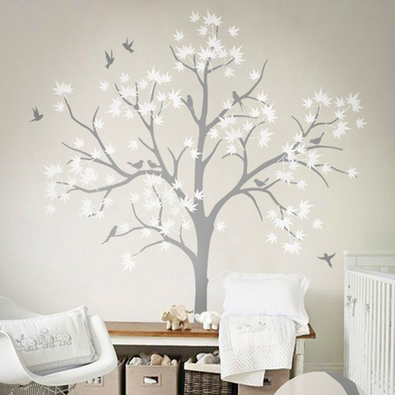 Arbre vinyle sticker nursery promotion achetez des arbre for Arbre decoration