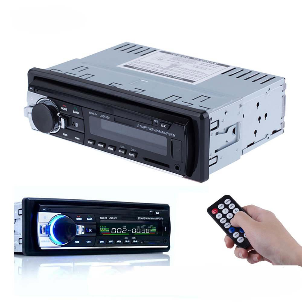 New Registered 12V Bluetooth V2.0 Car Stereo Audio In-dash 1 Din FM Receiver Aux Input Receiver SD USB MP3 MMC WMA Radio Player(China (Mainland))