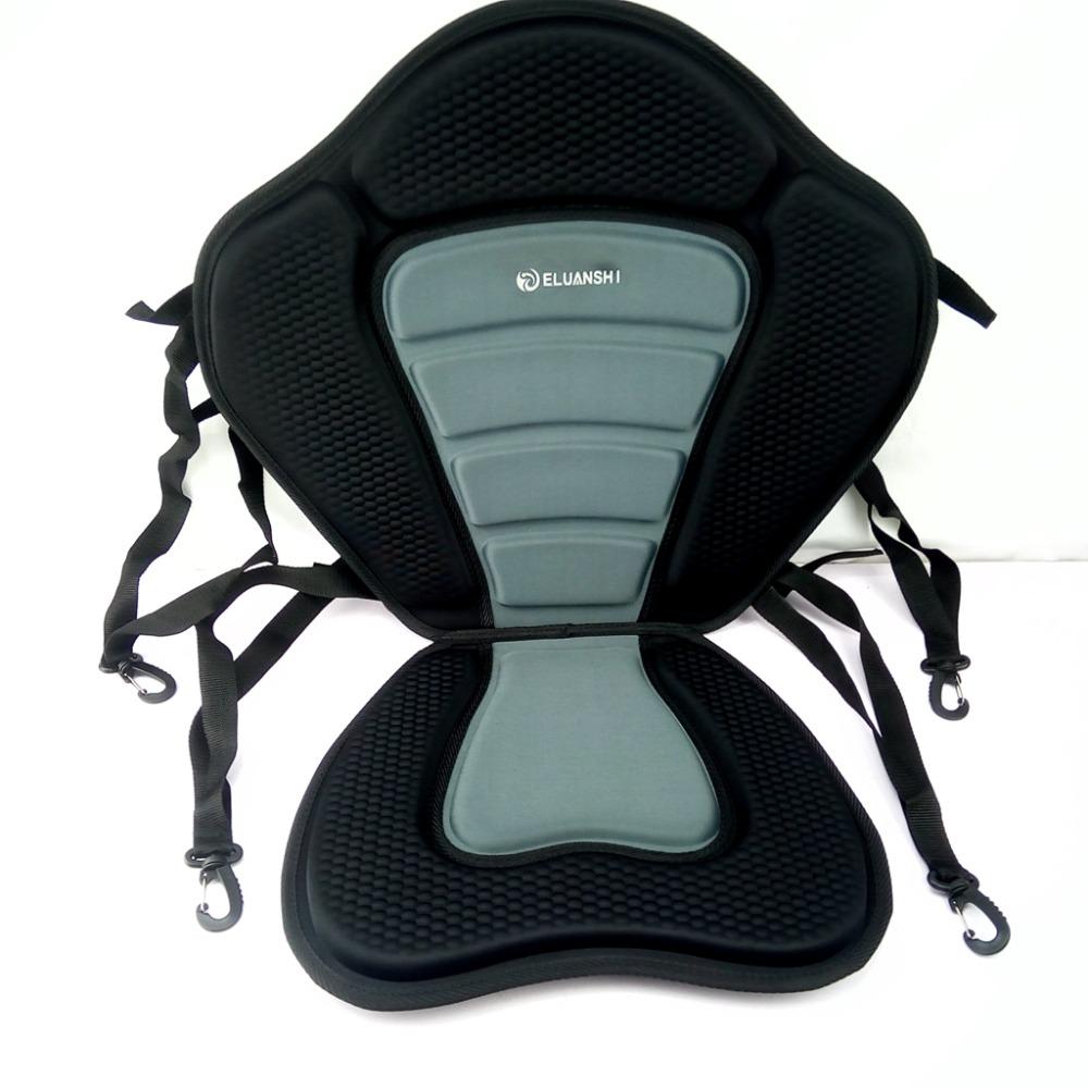 Adjustable deluxe padded kayak fishing seat pad backrest for Kayak fishing seats