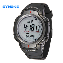 Fashion Men Sports Watches SYNOKE Brand LED Electronic Digital Watch 50M Waterproof Outdoor Dress Wristwatches Military Watch