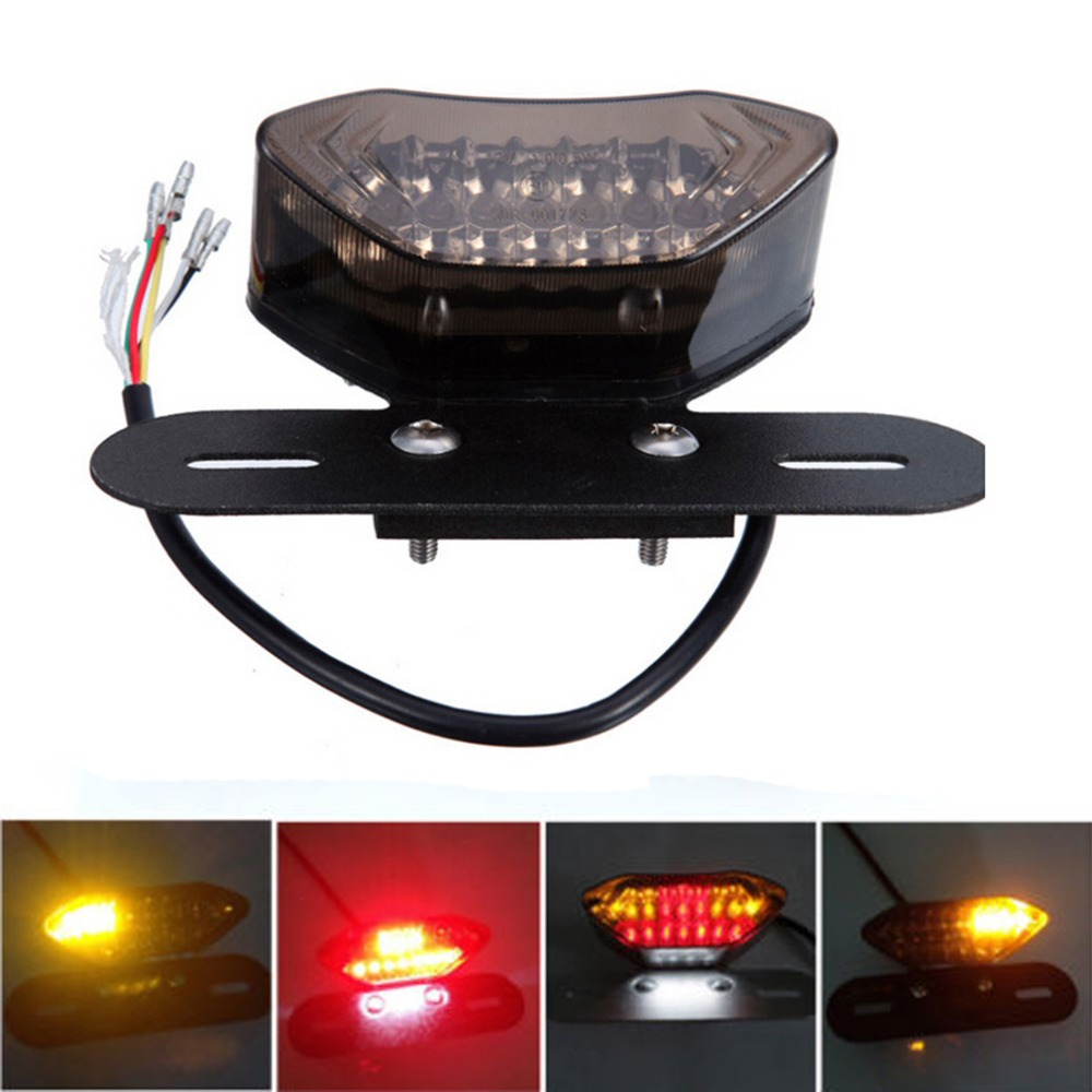 Universal Motorcycle Portable LED Brake stop Tail Light Turn Signal Blinkers Integrated Free shipping<br><br>Aliexpress