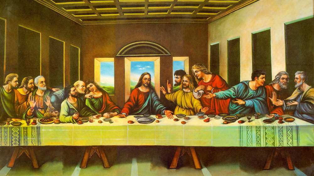 diy diamond painting full square whole last supper 100*50CM cross stitch