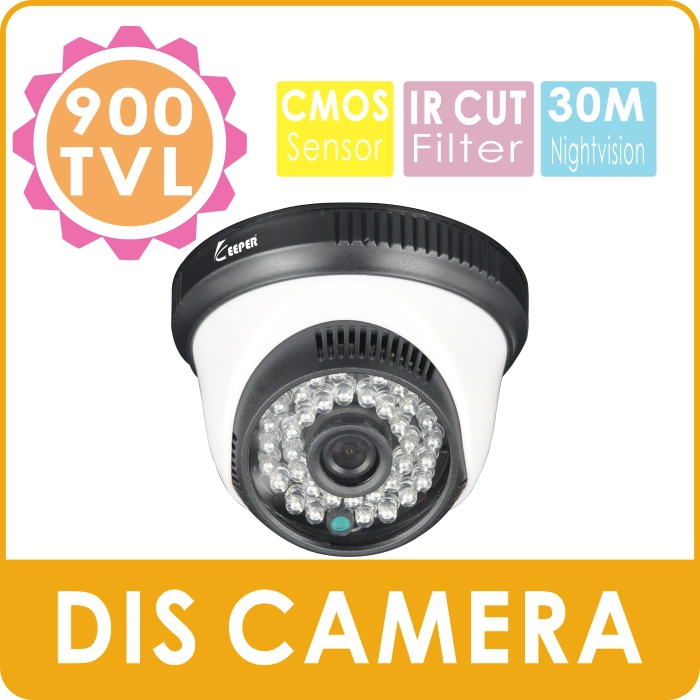 KEEPER New Indoor Dome CCTV Camera Plastic 900TVL CMOS Security Camera with 36pcs IR LEDs<br><br>Aliexpress