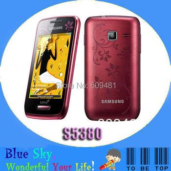 Free Shipping Refurbished S5380 Original Samsung Wave Y S5380 mobile phone 2MP Camera GPS WIFI Smart Phone