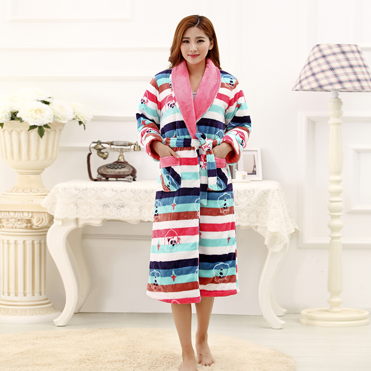 High quality Brand Coral thick Pajamas Long-sleeve Bathrobe&amp;Robe For Women home clothes Plus Size Robes Free ShippingОдежда и ак�е��уары<br><br><br>Aliexpress