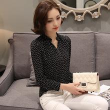 New 2016 Fashion Women blouse Printed Chiffon blouse Elegant long sleeved Casual women shirt Plus size Women clothing Blusas