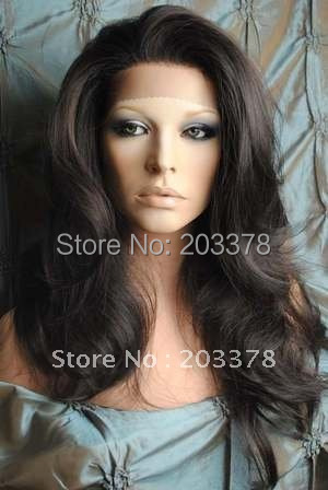 "STOCK New Gorgeous 18"" color 2#  high quality Lace Front Synthetic  wigs"