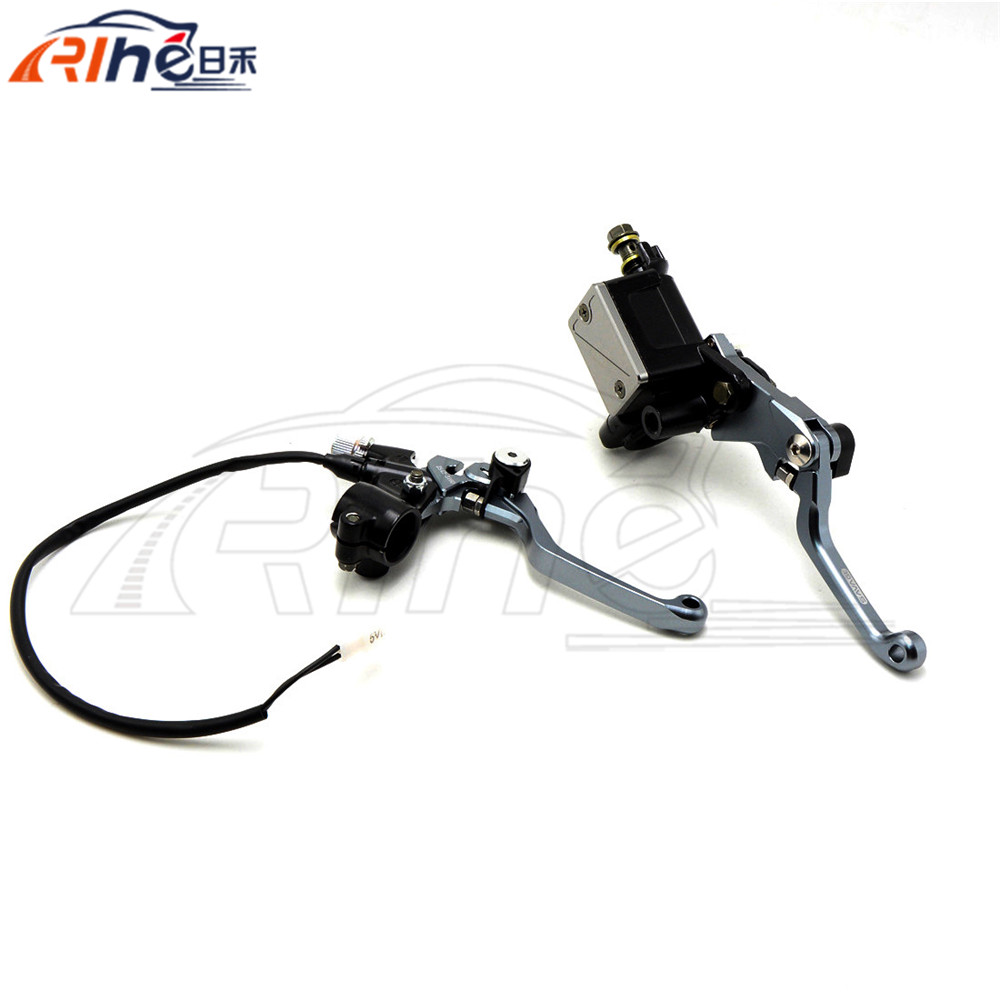 "Brand New Hydraulic Brake Cable Clutch 7/8"" Motorcycle Brake Master Cylinder Reservoir Levers For KAWASAKI KX125 2006 2007 2008(China (Mainland))"