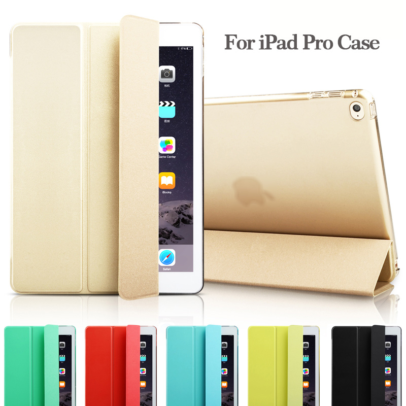 """Fashion Ultra Slim Magnetic Front Smart Case Skin + Hard PC Back Cover For New iPad Pro 12.9"""" 9.7""""(China (Mainland))"""