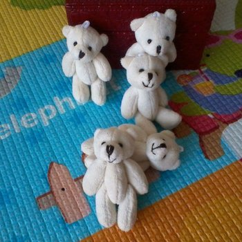 Hot Sale Free shipping, 30pcs/lot, 15cm Teddy bear use for bag,callphone,Promotional items.   toy bear, plush bear..