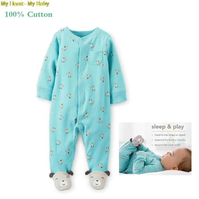Baby Clothing Carters Original Baby Girl Boys Spring Jumpsuit Animal Romper Clothes Infant Costume for Kids Sleepwear Pajamas(China (Mainland))