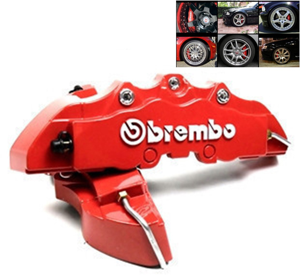4pcs/set Car Brake Caliper Front Rear 3D Brembo Disc Brake Caliper Covers Case 5 Colors Free Shipping(China (Mainland))