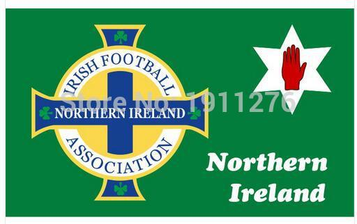 Northern Ireland Football Flag Red Hand Ulster Loyalist Soccer Sports Game For 2016 Euro Cup 90x150cm(China (Mainland))