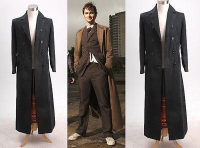 Who is Doctor Dr. Long Trench Coat Costume Black Version Tailored Cosplay Party(China (Mainland))