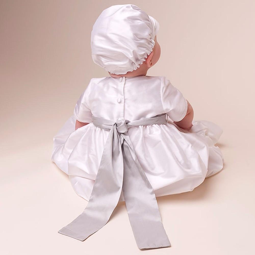 Скидки на 2016 New Baby Мальчики Крещение Платья Белого Цвета День Рождения Ребенка 100% Шелка Dupioni в Белом Платье Мальчиков Крещение Платья