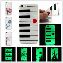 TPU Luminous Case for phone6 plus 5.5″ Luxury Slim Clear Soft Cover For iphone6s Plus 5.5″ Mobile Phone Case