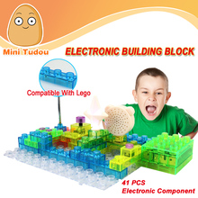 Minitudou Newest Educational Toys Game Electronic Building Blocks Sets Enlighten Bricks Physics Learning For Kids Children(China (Mainland))