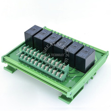 Omron relay module 6-channel module driver board output amplifier board PLC board G4W 12V or 24V(China (Mainland))