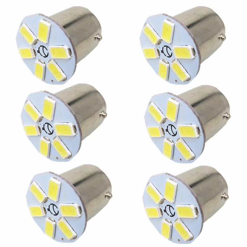 6pcs BAY15D Led Light 12V Auto Car Front Turn Signal Light Bulb 1157 Lamp for Nissan Murano Quest 2009 2010 2011 2012 2013 2014(China (Mainland))