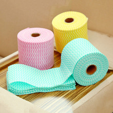 1 roll disposable towels Outdoor Travel Cotton Removable Towel Tissue Napkin Face Wet  Towels Cleaning Face Dry Towel
