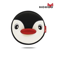 NOHOO Waterproof Animals Shoulder Bag 3D Penguin Printed Handbag Small Circular Cartoon Kids Baby Bags NHK001
