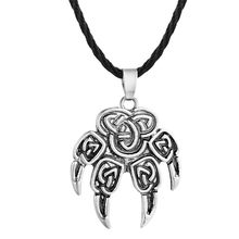 QIAMNI โบราณเงิน Perun ขวาน Amulet Slavic Kolovrat สัญลักษณ์ไอริช Knot Viking จี้สร้อยคอผู้ชาย(China)