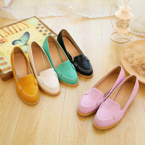 ENMAYER Med Square heel Round Toe High shoes 4cm women pumps Wedding shoes new sexy platform pumps 6 color big size 34-43