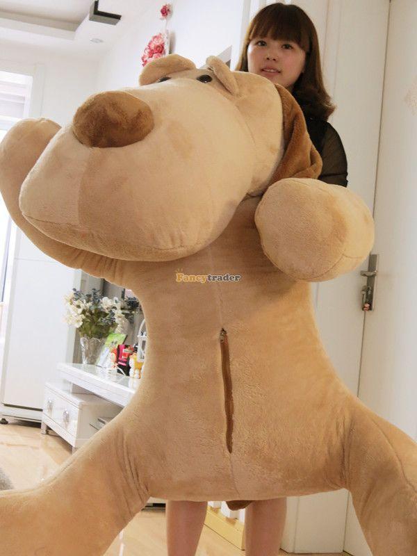 Fancytrader 55'' / 140cm Giant Stuffed Soft Plush Jumbo Huge Lying Animal Dog Toy, Free Shipping FT50823(China (Mainland))