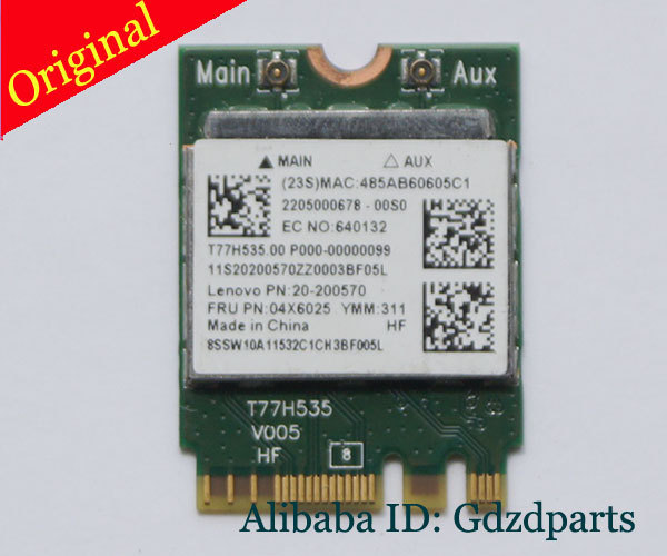 20-200570 For Lenovo Wireless-N M.2 NGFF Card - 04X6025 - RTL8723BE<br><br>Aliexpress