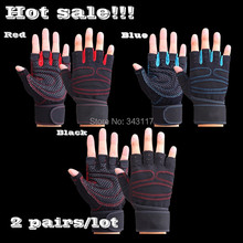 2 pairs/lot Tactical Gym Body Building Training Sports Fitness Weight Lifting Exercise Cycling Gloves For Men And Women L232