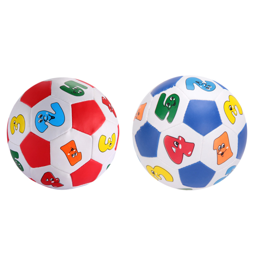 13cm Baby Kid Early Education Football Toys Small Alphabet Number Learning Ringing Ball Mini Child Toys Random Color(China (Mainland))