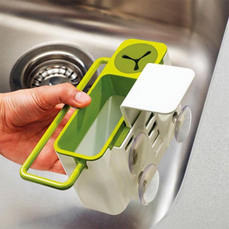 Suction Cup Base Kitchen Brush Sponge Sink Draining Towel Rack Washing Holder Mini Bathroom Shelves Soap Holder(China (Mainland))