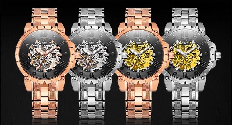 100% Оригинальный Мужчины повседневная мода Бингер часы мужчины luxury brand аналоговый спорт военная наручные часы высокое качество Self-wind Часы