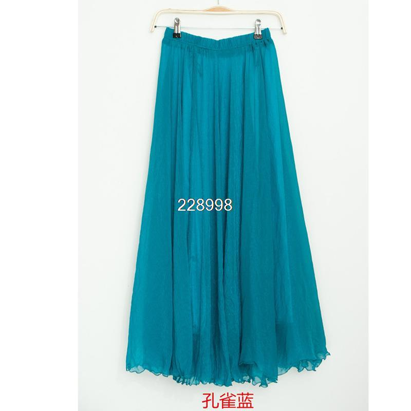 Hot Sale 2016 New Fashion Bohemian length For Women Simple Beautiful floor Skirts for women summer