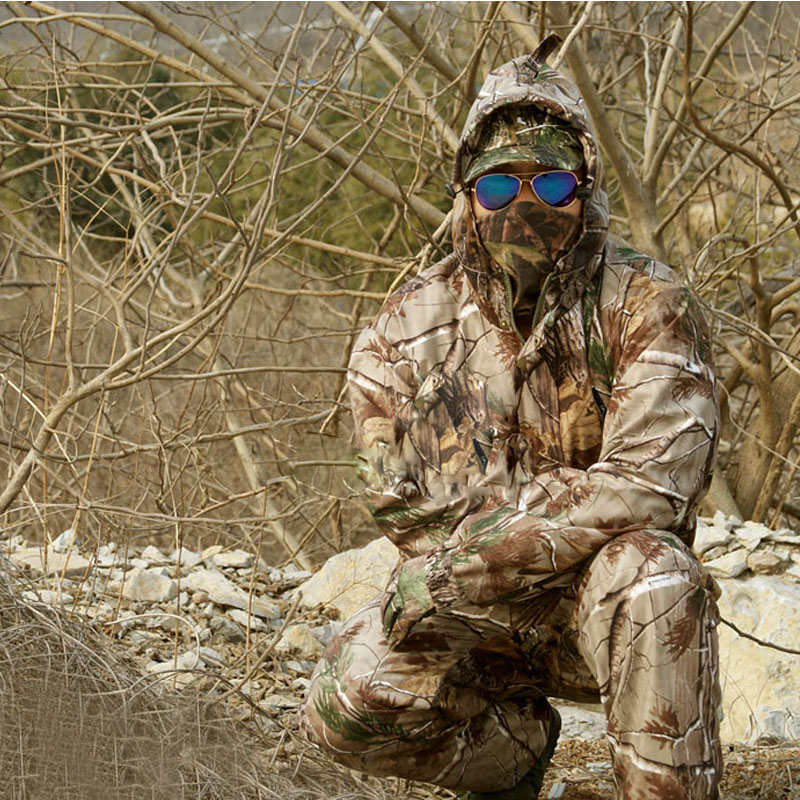 jungle tactical lifelike Bionic pine hunting camouflage mast yards wide Songane silent water proof breathable camo Set male