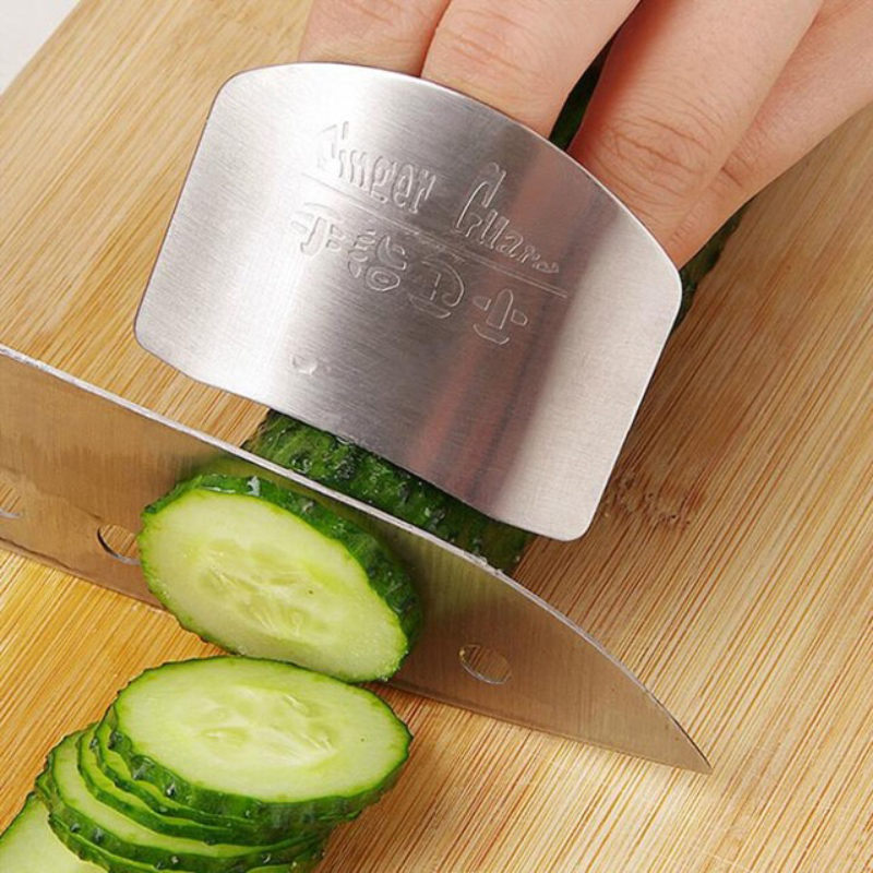 Easy Life Finger guard newest stainless steel protect finger hand not to hurt cut Safety Guard Kitchen cooking tools(China (Mainland))